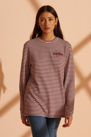 Superdry Stripe Graphic NYC Top