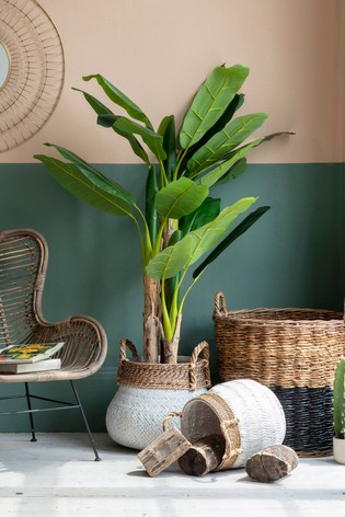 Gallery Direct Artificial Banana Palm Plant In Black Pot