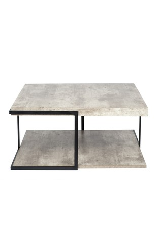 Pacific Concrete Effect MDF And Black Iron Coffee Table