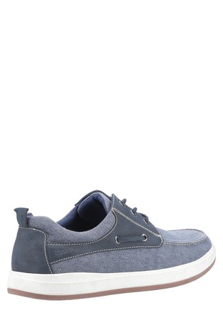 Hush Puppies Blue Aiden Lace-Up Boat Shoes