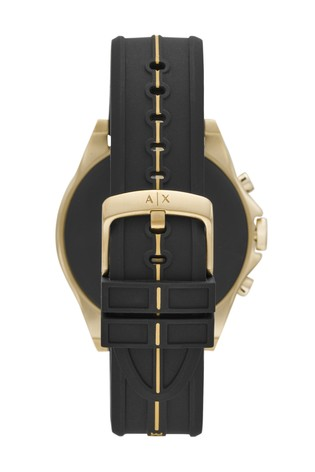 Armarni Exchange Black Silicone Smartwatch
