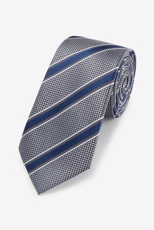 Grey/Blue Stripe Pattern Tie