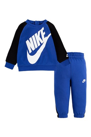 Nike Infant Blue Futura Crew And Joggers Set