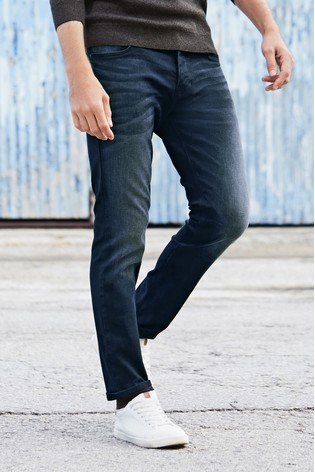 Ink Straight Fit Jeans With Stretch