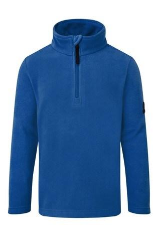 Tog 24 Blue Shire Kids Fleece Zip Neck Fleece