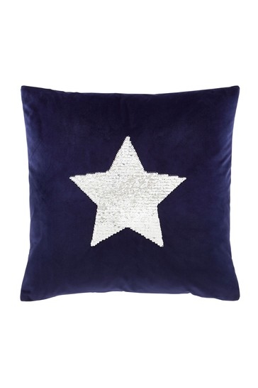 Sequin Star Cushion by Catherine Lansfield