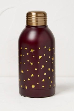 FatFace Purple Star Print Water Bottle