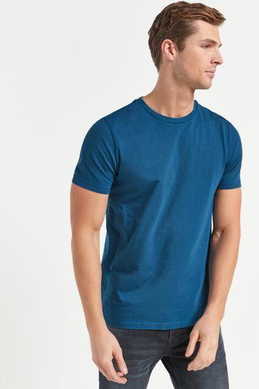 Teal Regular Fit Crew Neck T-Shirt