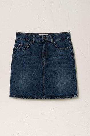 FatFace Blue Denim Skirt