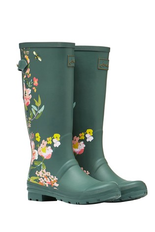 Joules Print Wellies with Adjustable Back Gusset