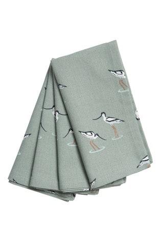 Set of 4 Sophie Allport Coastal Birds Napkins
