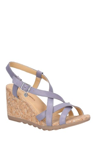 Hush Puppies Blue Pekingese Strappy Buckle Sandals