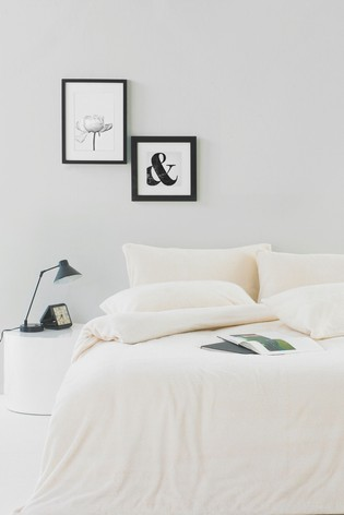 Sherpa Duvet Cover and Pillowcase Set by Furn