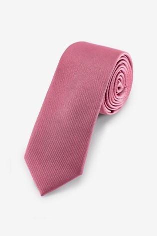Rose Slim Twill Tie