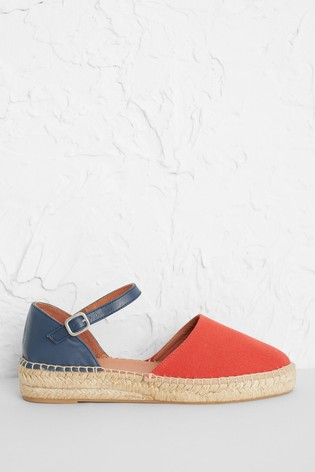 Seasalt Orange Porthcressa Espadrilles