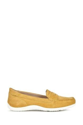Geox Women's Vega Moc Yellow Shoes