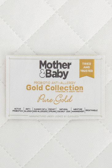 Mother&Baby Pure Gold Anti Allergy Coir Pocket CotBed Mattress