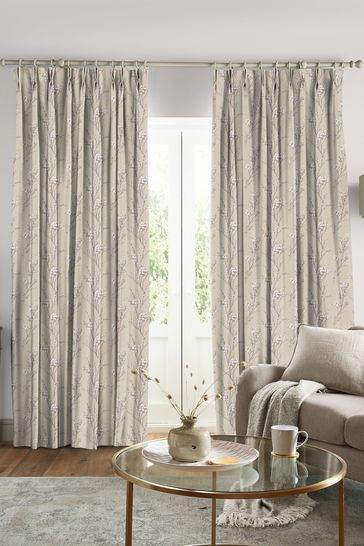 Laura Ashley Pussy Willow Natural Made to Measure Curtains