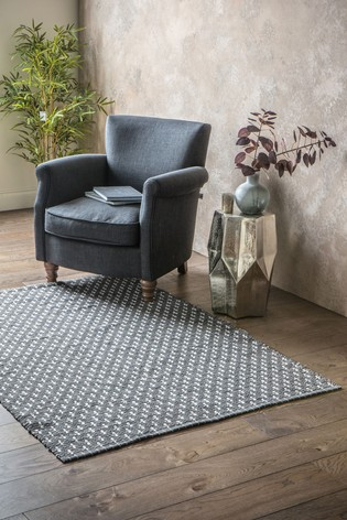 Cotton Woven Diamond Cross Rug by Gallery Direct