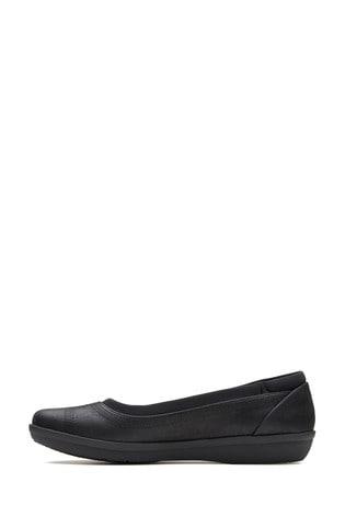 Clarks Black Ayla Low Shoes