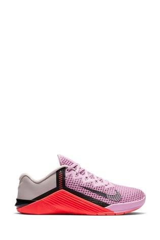 Nike Train Pink/Black Metcon 6 Trainers