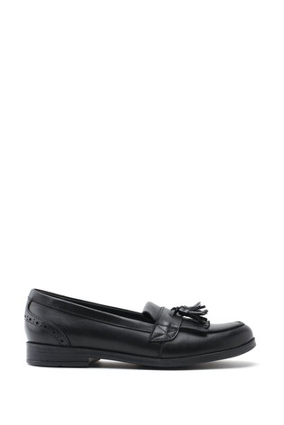 Start-Rite Sketch Black Wide Fit Leather Shoes