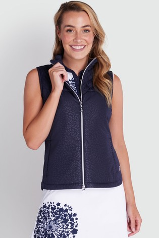 Green Lamb Blue Khloe Quilted Panel Gilet