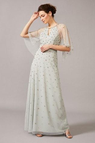 Phase Eight Blue Blanca Sparkle Tulle Dress