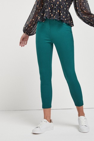 Jade Jersey Cropped Leggings