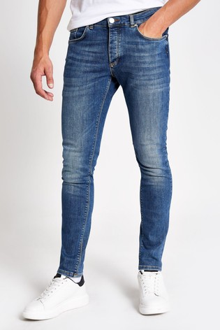 River Island Mid Wash Sid Skinny Jeans