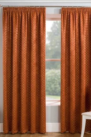Enhanced Living Gemini Metallic And Velvet Pencil Pleat Curtains