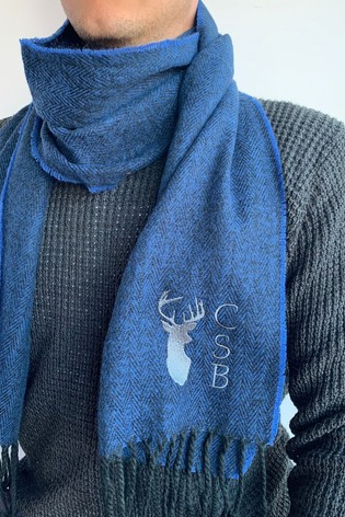 Personalised Mens Initial Scarf by Solesmith