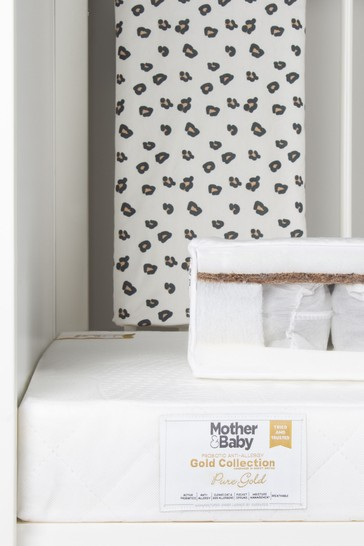 Mother&Baby Pure Gold Anti Allergy Coir Pocket Sprung Cot Mattress