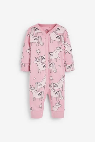 Pink 3 Pack Character Footless Sleepsuits (0mths-3yrs)
