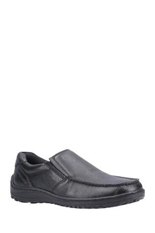 Hush Puppies Black Thomas Slip-On Loafers