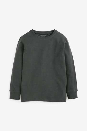 Charcoal Grey Long Sleeve Cosy T-Shirt (3-16yrs)
