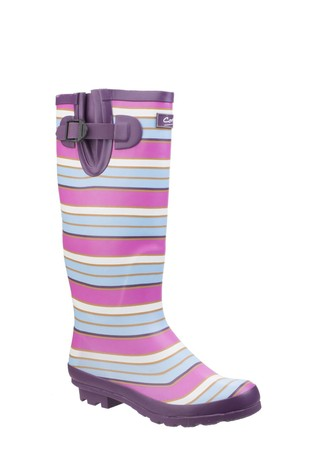 Cotswold Pink Wadeberry Wellington Boots