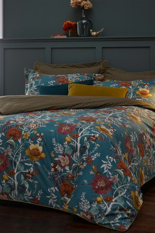 Bloom Teal Bedset by Riva Paoletti