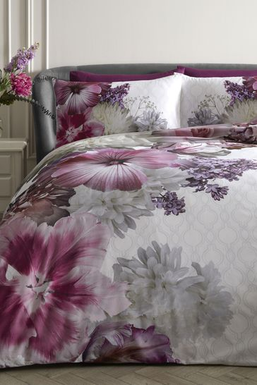 Laurence Llewelyn-Bowen Mayfair Lady Large Floral Duvet Cover and Pillowcase Set