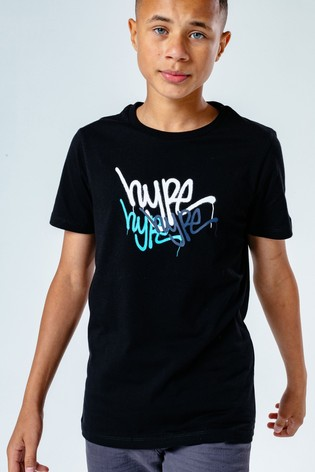 Hype. Graffiti Print T-Shirt