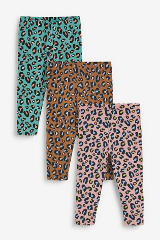 Multi 3 Pack Animal Leggings (3mths-7yrs)