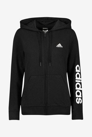 adidas Linear Zip Through Hoodie