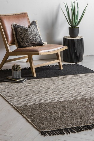 Crossland Colourblock Fringed Rug by Gallery Direct