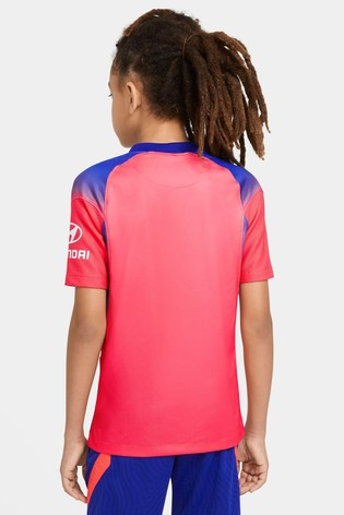 Nike Red Chelsea FC Third 20/21 Kids Football Shirt