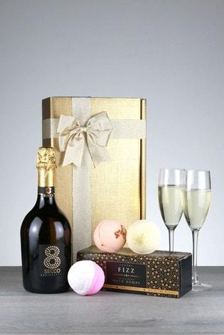 Prosecco And Bathbomb Bubbles Gift Set by Le Bon Vin