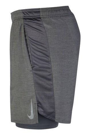 "Nike Grey Challenger 2-In-1 7"" Running Shorts"