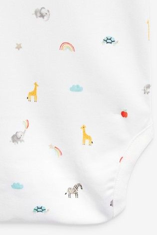 White Character 10 Pack Cotton Short Sleeve Bodysuits (0mths-3yrs)