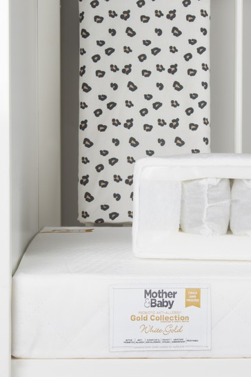Mother&Baby White Gold Anti Allergy Pocket Sprung Cot Mattress
