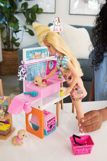 Barbie Doll And Pet Boutique Playset With Pets And Accessories