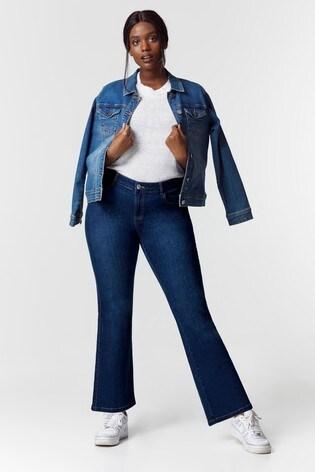 Evans Curve Regular Mid Wash Boot Cut Jeans